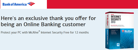 Bank of America Free McAfee