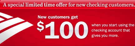 You can find some of the best Bank Of America promo codes for save money at online store Bank Of America $ Cashback Your Order Expires: 12/13/18 Details: Tap deal to copy the coupon code.