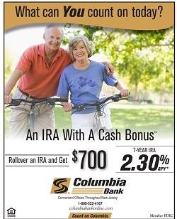 Columbia Bank IRA Bonus