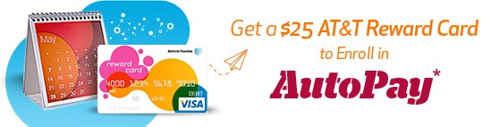 AT&T $25 Rewards Card