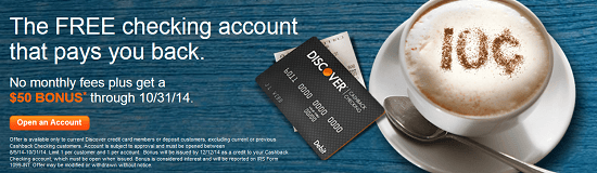 Discover Bank $50