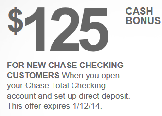 Chase checking account coupon code no direct deposit