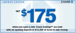 Chase Savings $175