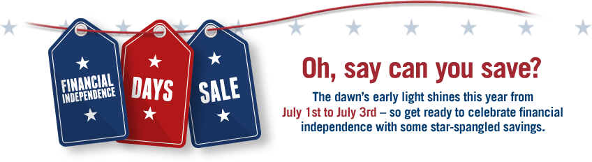 Capital One 360 Finacial Independence Sale