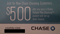 Chase Coupon Premier Checking