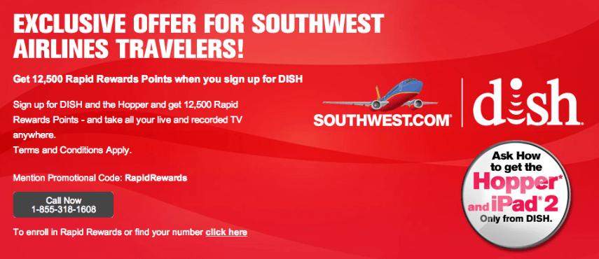 Southwest Rapid Rewards Enrollent Bonus Detail