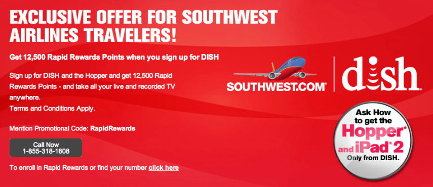 Dish Southwest 500 Points