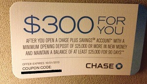 Chase Plus Savings Coupon