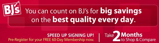 BJ's Club 60 Days Free Trial