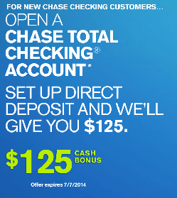 Coupon for opening chase bank account