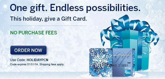 Gift Card Fee Waiver
