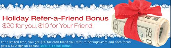 Befrugal $20 Bonus