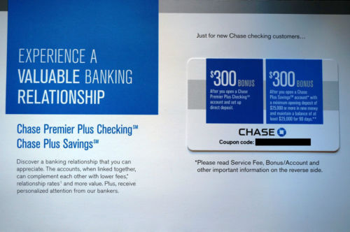 Chase 600 Premier Checking Amp Plus Savings Coupons
