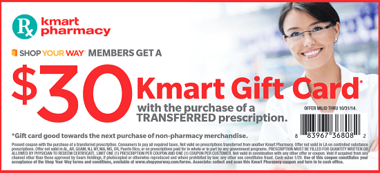 Kmart Prescription Transferred Bonus