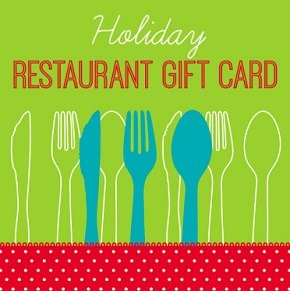 holiday restaurant gift card
