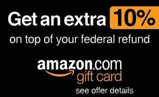 TurboTax Amazon Gift Card 10% Bonus Program - Hustler Money Blog
