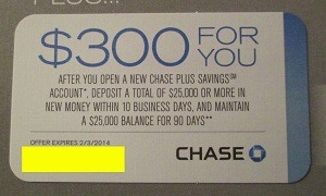 Chase $300 Plus Savings