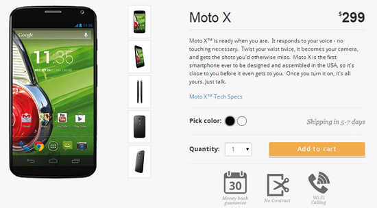Moto X No Contract Phone