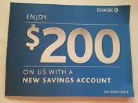 Chase $200 Savings