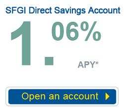 SFGI Direct savings rate