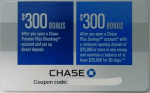 Chase bonus coupon