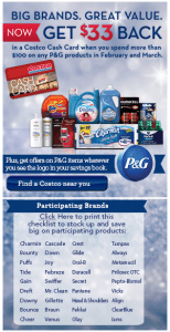 Earn 66 Costco Cash Cards With P G Products Promotion Hustler Money Blog