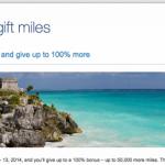 US Airways 100% Bonus on Shared Miles: 50,000 Bonus Miles