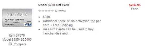 Staples Visa Gift Card