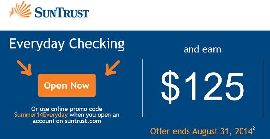 Suntrust $125 Bonus