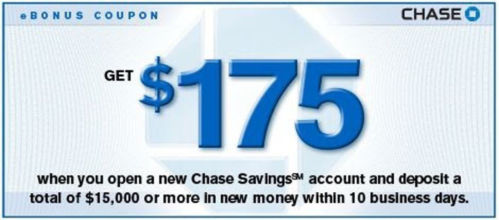 This $ coupon offer for a new Chase Checking and Savings account is available online from time to time. These $ online offers tend to get taken down before the expiration date so it's best to not wait until the last minute for them. The offer is for a $ bonus for a new Checking account and a $ bonus for a new Savings account.