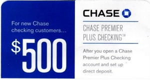 Chase $500 Premier Checking
