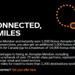 Free 1,000 Bonus Aeroplan Miles Promotion