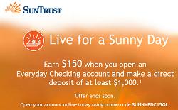Suntrust $150 Bonus