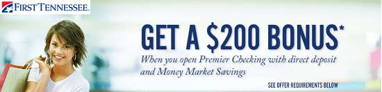 First Tennessee Premier $200 Bonus