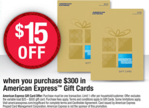 OfficeMax $15 Amex Gift Card