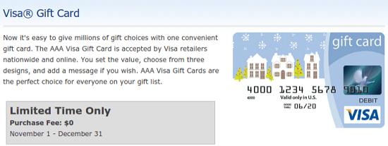 Visa Fee Free Gift Cards