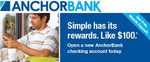 Anchor Bank $100 Bonus