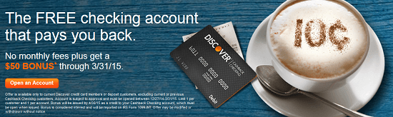 Discover $50 Checking