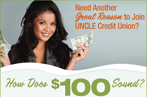 UNCLE CU $100 Bonus