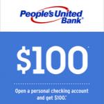 People's United Bank Review: $100 Checking Bonus (CT, NH, NY, VT)