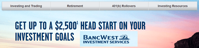 BanWest Investment Services $2500 Bonus