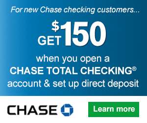 Chase Total Checking $150 Bonus