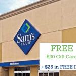Groupon Sams Club Membership Deal: Free $20 Gift Card