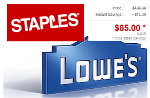 Staples Lowes Gift Card