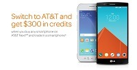 Switch to AT&T: $300 in credits