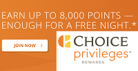 Choice Privileges Free 8,000 Sign Up Points