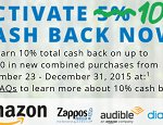 Chase Freedom 10% Bonus 2015 4Q Promotion: Amazon, Zappos, Audible, & Diapers.com