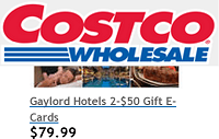 Gaylord Gift Card Costco