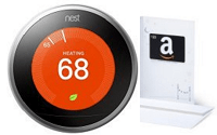 Nest Learning Thermostat Amazon $50 Gift Card