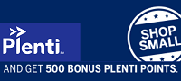 Plenti 500 Bonus Points with Shop Smal